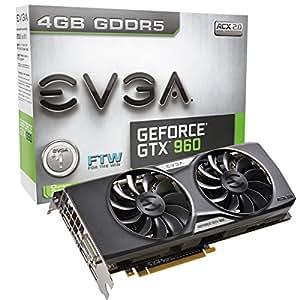 EVGA 04G-P4-3969-KR Carte graphique Nvidia GeForce GTX 960 1279 Mhz 4096 Mo PCI Express