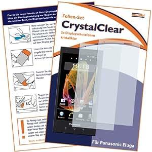 2 x mumbi Displayschutzfolie Panasonic Eluga Schutzfolie CrystalClear unsichtbar