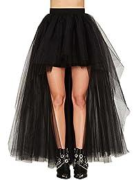 Babyonlinedress Femme Rétro Jupon Asymétrique année 50 vintage en Tulle Audrey Hepburn Rockabilly Petticoat Tutu