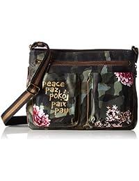 Desigual Baqueira Militar Flores - Handtasche
