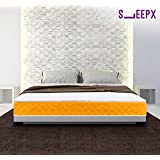 SleepX Apt High Resilience (HR) Foam Mattress - (78x60x6 Inches) with Free Pillows