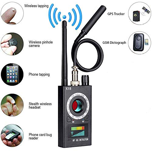 Anti-Spy RF Detektor Wireless Bug Detector Signal für versteckte Kamera Laser Objektiv GSM Hörgerät Gerät Finder Radar Radio Scanner Wireless Signal Alarm Radar