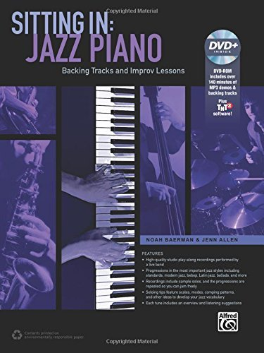 Sitting In -- Jazz Piano: Backing Tracks and Improv Lessons (Book & DVD-ROM) by Noah Baerman (2014-09-01)