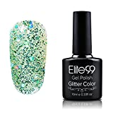 Elite99 Diamond Glitter UV LED Soak off Gel Polish Glitter Linen 10ml (066)