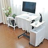 Hnks Scrivania per Computer Computer Desk Office Desk Wood Corner Desk Computer Workstation Grande Gaming Desk Studio Desk Studio Tavolo Beige Nero per Casa e Ufficio