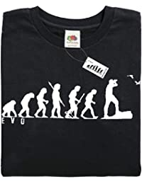 Mans Evolution T-Shirt® EVO Mens Ape to Bird Watcher Twitcher brand new original gift present