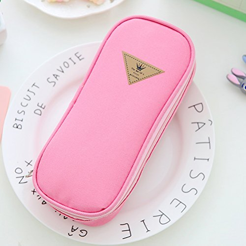 Zhuhaijq oval single astuccio astucci per matite penne, matite, scrittura e correzione pencil cases stationary supplies pencil holders