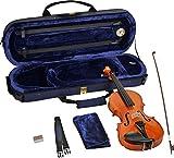 Steinbach 1/8 Geige im SET Ebenholzgarnitur, wunderschön geflammt, poliert
