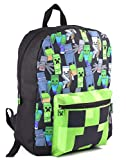 Minecraft All Over Print Kids Mochila negra Mochila escolar para niños (One Size)