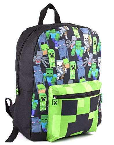 Vanilla underground Minecraft All Over Print Kids Schwarzer Rucksack Jungen Schulrucksack (One Size)