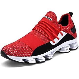TORISKY Unisex Sportschuhe Laufschuhe Sneakers Turnschuhe Fitness Mesh Air Leichte Schuhe Rot Schwarz Weiß (A61-Red40) IvebirOFP
