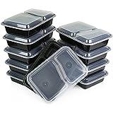 Ajuste perfecto 2 sección cajas de almuerzo - microondas, nevera y lavavajillas fiambreras - Ideal para Control de la porción japonés - apto para adultos, niños, profesionales, etc, - juego de 3 cajas Bento estilo