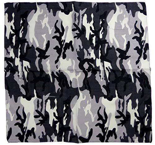 Evil Wear Herren Damen Nickituch Tarn Muster schwarz weiss USA Camo 55x55cm - Schwarze Und Weiße Camo