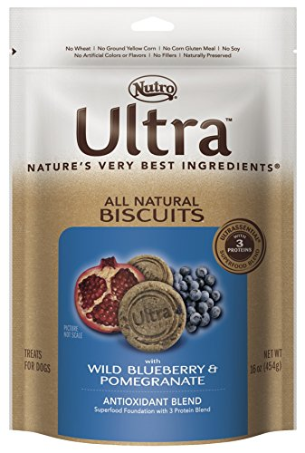 Nutro ULTRA Antioxidant Blend All Natural Dog Biscuits With Wild Blueberry and Pomegranate, 16 oz.