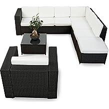 Polyrattan Gartenmöbel Lounge Set (Modell 2017) Polyrattan Sitzgruppe  Loungemöbel + 1x