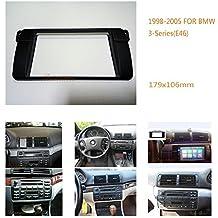 autostereo 11–4982DIN Car Radio Fascia Facia panel adapte para BMW Serie 3E461998–2005marco de instalación de radio de coche para BMW Serie 3E46marco embellecedor para radio de coche