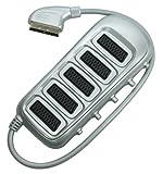 Gefotech 8045 Scart-Verlängerungskabel, 5 x 21-Pin Scartbuchse, 1 x 21-Pin Scartstecker, mit Schalter