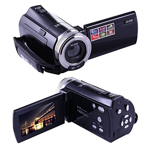 PowerLead Mini DV C8 16MP High Definition Digital Video Camcorder DVR 2.7 '' TFT LCD 16x Zoom Hd Video Recorder Kamera 1280 x 720p Digital Video Camcorder (schwarz)