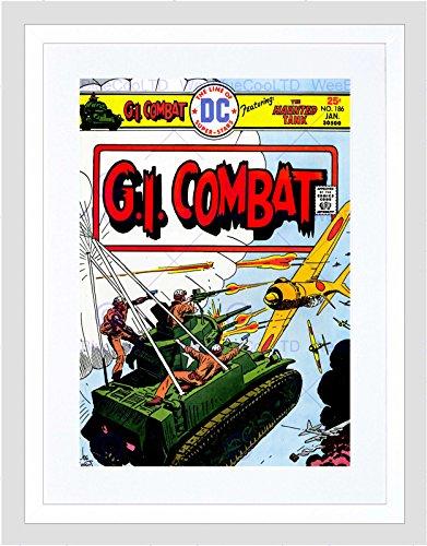 COMIC BOOK COVER GI COMBAT HAUNTED TANK FLY NEW FRAMED ART PRINT B12X10655