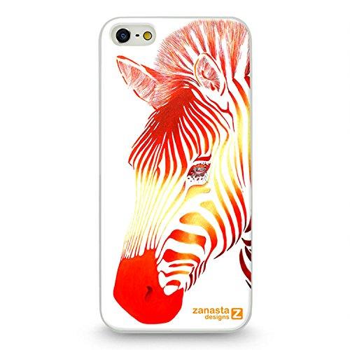 Red Zebra Cover (Zanasta Designs Schutzhülle Apple iPhone SE 5 5S Hülle Case Slim Cover mit Motiv Red Zebra)