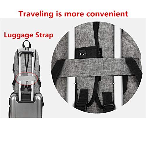 Laptop Backpack con Puerto De Carga USB Mujer 1-Negro Negocio A AM SeaBlue Mochila Antirrobo Impermeable 15.6 Pulgadas Port/áTil Ordenador Multiusos Daypacks para Hombre Estudiante