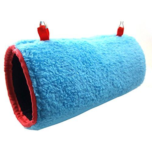 Yatoy nido invernale per pappagalli, nido per uccelli in velluto,bird house,giocattoli per animale domestico,rifugio per pappagalli,nido amaca calda per animali domestico – blu