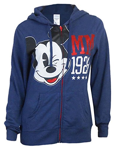 Disney Mickey Mouse Wink French Terry Exclusive Sweatshirt Navy