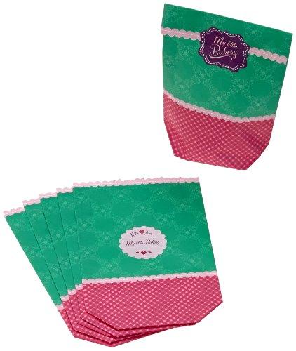 Birkmann RBV 441880 My little Bakery - Juego de bolsas de papel de regalo, color verde y rosa