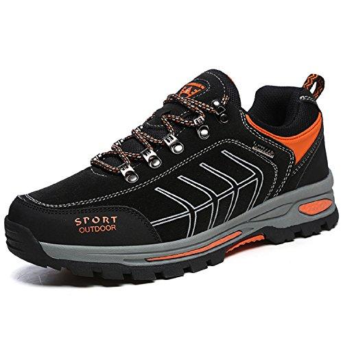 NEOKER Wanderschuhe Trekking Schuhe Herren Damen Sports Outdoor Hiking Sneaker Schwarz 39