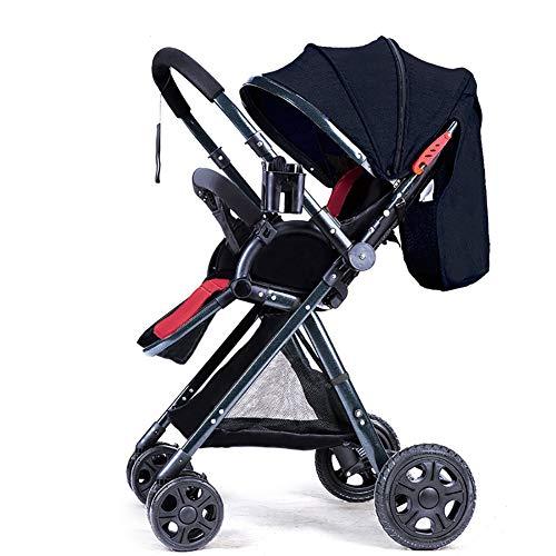 Passeggino guo@ maniglia paesaggio alta maniglia bambini reversibili può sedersi e sdraiarsi pieghevole portatile pieghevole per bambini carrello telaio verde scuro
