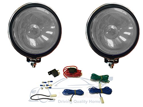 xtremeautor-clear-white-light-with-wiring-kit-twin-6-chrome-spot-lamp-kit-for-4x4-off-road-jeep-pick