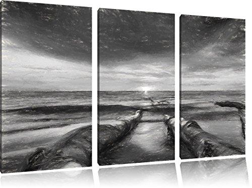 beach-effetto-olio-effetto-carbone-3-pezzi-picture-tela-120x80-immagine-sulla-tela-xxl-enormi-immagi