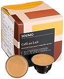 Amazon-Marke: Solimo Dolce Gusto* kompatible Cafè Au Lait Kapseln - UTZ zertifiziert 96 Kapseln (6 x 16)