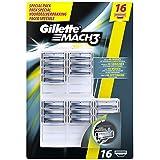 Gillette Mach3 Lames de Rasoir pour Homme 16 Recharges