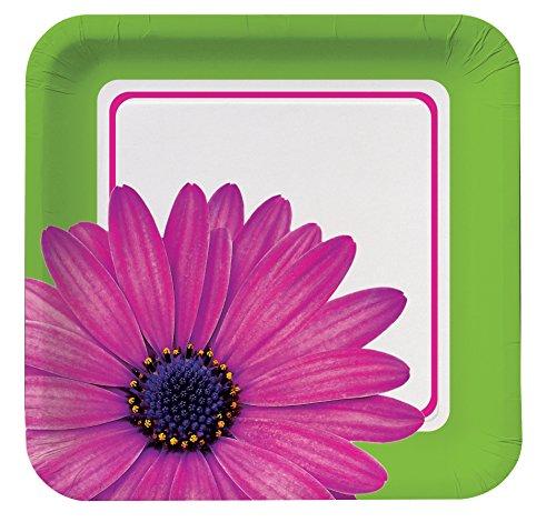 Unbekannt Creative Converting 8Zählen quadratisch Papier Bankett Teller, Daisy Power