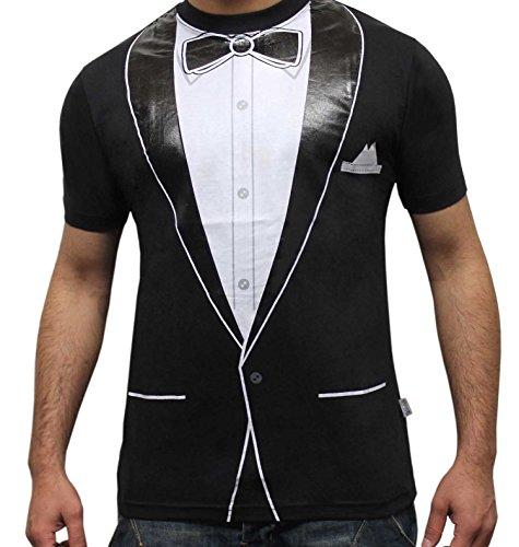 Tuxedo Shirt Für T Kostüm Erwachsene - Erwachsene Herren Chirurg Arzt Captain alle bedruckt T-Shirts Fancy Kleid Kostüm Mehrfarbig Tuxedo Printed Men:  XX-Large