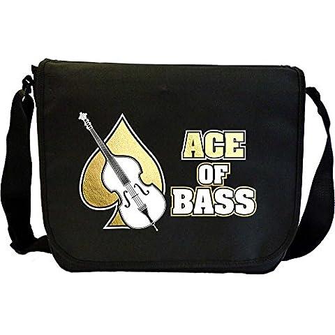 Double Bass Ace Of Bass - Sheet Music Document Bag Borsa Spartiti MusicaliTee