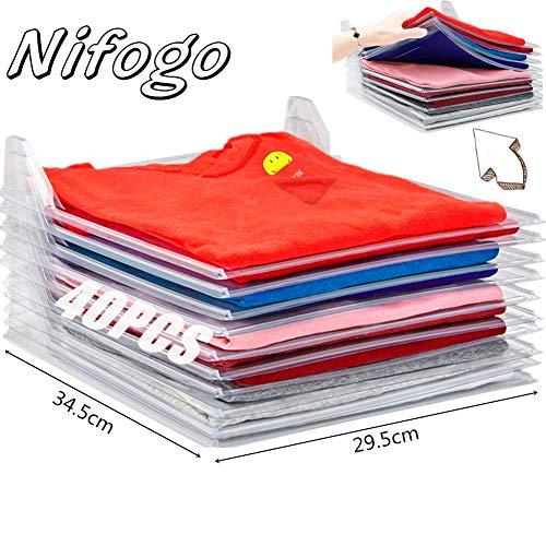 Nifogo T-Shirt Veranstalter Organizer - Kleiderschrank Organizer, Multifunktionale Kleidung Ordner, Closet Drawer Cabinet Organization Sparen Sie Raum Falten Prävention (40PCS)