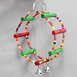 Myyxt Pappagallo giocattoli uccello gabbia accessori Parrot forniture Ferris Wheel