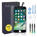 bokman Écran Tactile LCD pour iPhone 6 Noir, Vitre Tactile avec Kit de Réparation