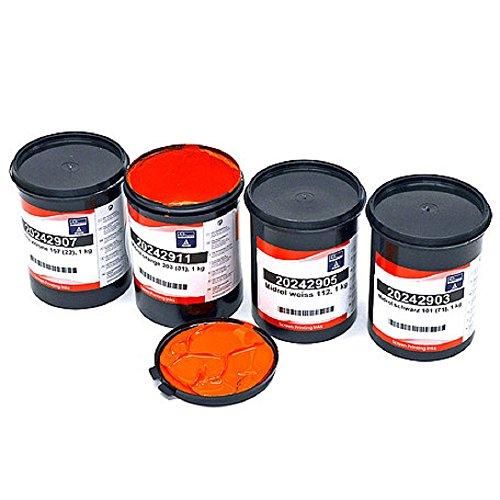 Wasserbasierende Siebdruckfarbe für Holz, Karton und Papier -