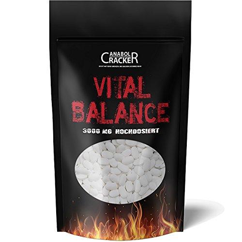 Glucosamin Komplex Tabletten (600 Tabletten - Vital Balance, Glucosamin Chondroitin MSM Vitamin C, 3000mg Hochdosiert, Deutsche Herstellung, Geld zurück Garantie)