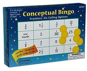 Conceptual Bingo - Frations - Maths Game