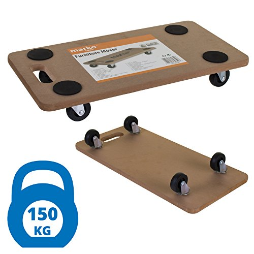 Marko Tools Furniture Mover Heavy Duty MDF Trolley Strong Castors Dolly Cart Platform 150KG Test