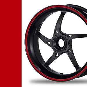 NEW! Felgenrandaufkleber Classic Style Auto Motorrad Felgenaufkleber (5mm, rot)