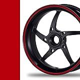 NEW! Felgenrandaufkleber Classic Style Auto Motorrad Felgenaufkleber (8mm, rot)