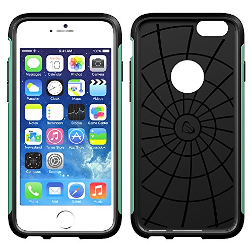 iPhone 6s Case, LUVVITT® ULTRA ARMOR Case for Apple iPhone 6s (2015) / iPhone 6 (2014) Dual Layer Shock Absorbing Tough Cover with Bumper Best iPhone 6/6S Case for 4.7 inch Screen - Black / Rose Gold Mintgrün
