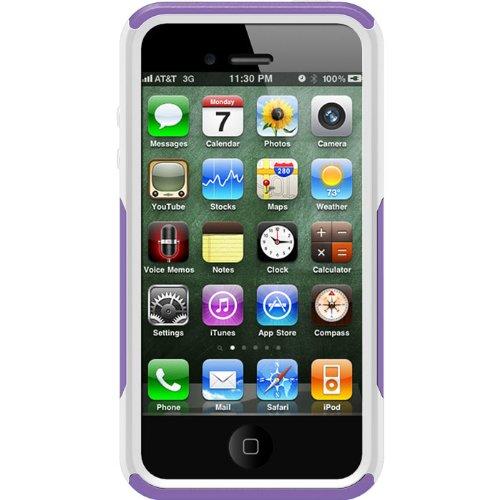 OtterBox Commuter Series Case für Apple iPhone 4S lila/weiß (Weißes Iphone 4 Case Otterbox)