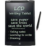 Tableta de escritura LCD, HuiHeng tablero pizarra portátil de dibujo gráfico Tablet adecuado para niños, diseñadores, profesores, estudiantes y doctores la usan en la escuela, oficina, casa y hogar., negro