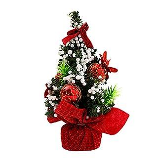 Fossrn 20CM Adornos Feliz Navidad Árbol Decoracion Mesa Dormitorio Decoración Juguete Muñeca Regalo Oficina Hogar Niños